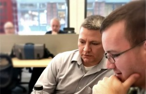 Brandon Bowlin and Nick Foster, two members of Seitel Systems' SharePoint collaboration team.