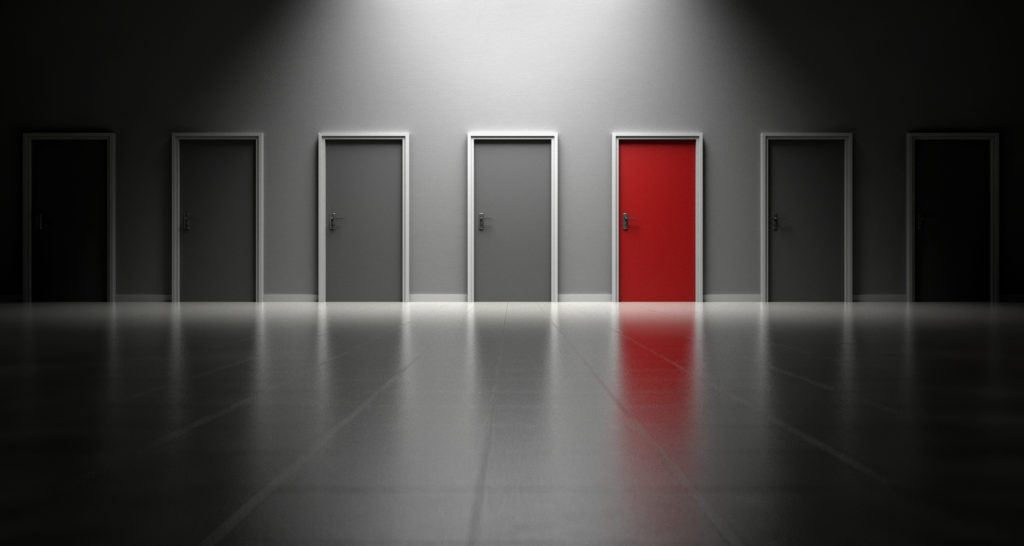 Which door would you open? Sometimes the best choice is not the most obvious one.