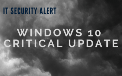 IT Security Alert: Windows 10 Critical Patch Required